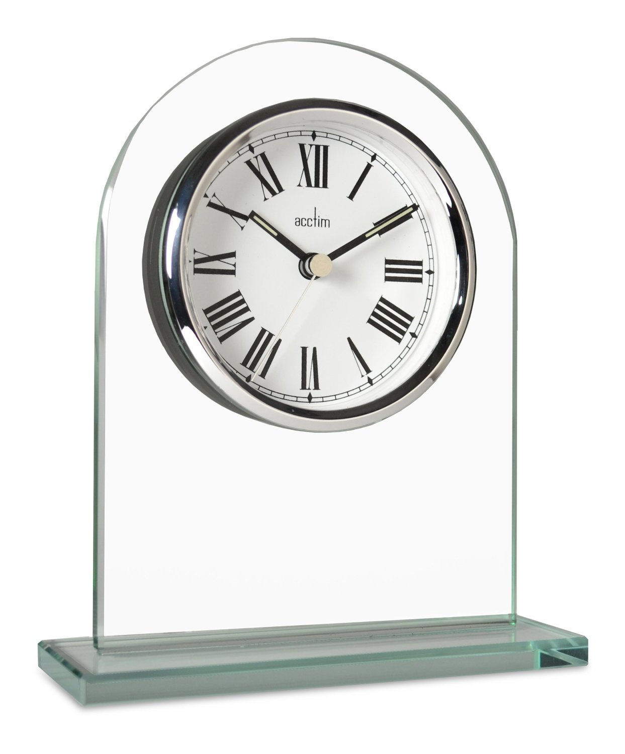 acctim adelaide glass mantel clock