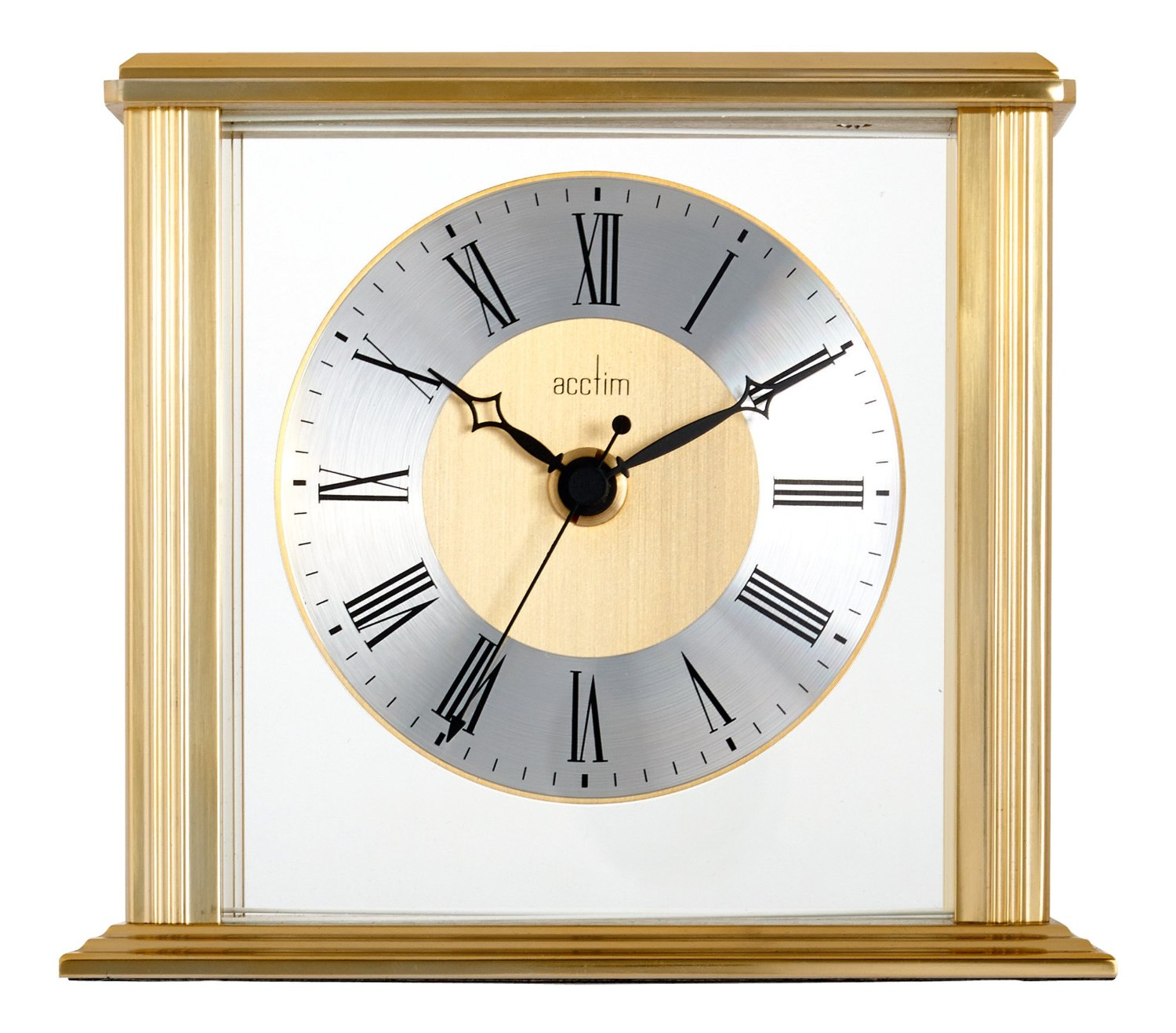 acctim hamilton glass mantel clock
