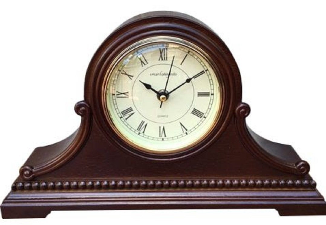 vmarketing wood chiming mantel clock